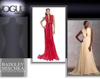 Vogue V1030 Badgley Mischka E5 14-16-18-20-22 UNCUT
