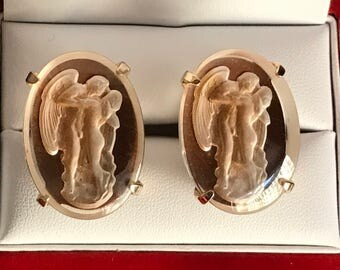 Vintage Swank Arts of the World Crystal Lovers Embrace Cufflinks