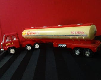 Vintage Shell Oil Tanker Truck Toy