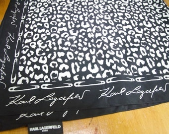 Authentic Karl Lagerfeld Paris Leopard Safety Pin Scarf