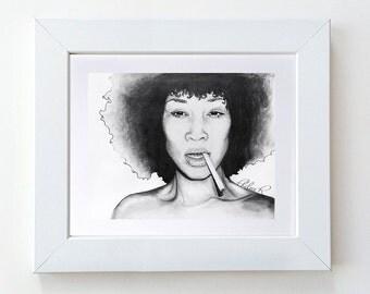Original Drawing - Supa Fly Elle