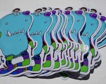 Fluff!  Large Vinyl Sticker