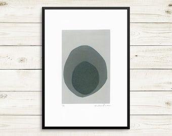 Monotype prints, monoprints, original art prints, small art prints, small wall art, black and grey art, small original art, zen nature art