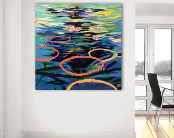 Original painting, large abstract painting, acrylic painting, contemporary art, canvas painting, abstract art, wall decor, large wall art