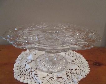 Large Pattern Glass Cake Stand (Pattern Fashion)