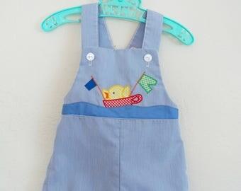 Vintage Baby Clothes Boys Sunsuit Romper Thomas