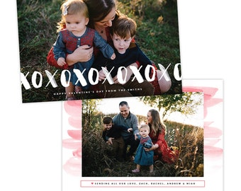 INSTANT DOWNLOAD - Valentine Photocard Template - e1449