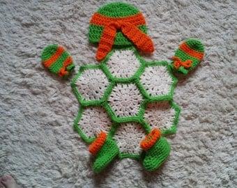 Turtle Photo Prop, Turtle Diaper Set, Ninja Turtle Diaper Photo Prop