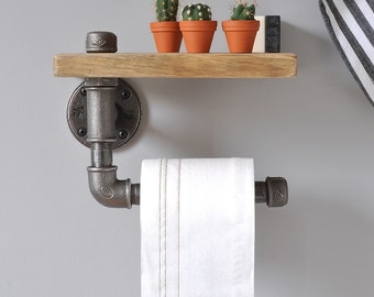Industrial Toilet Roll Holder And Shelf