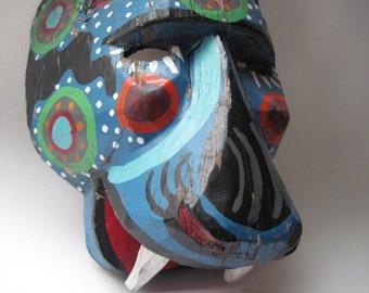 Vintage Folk Art Animal Mask Guererro Mexico