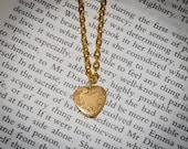 "Gold or Silver Tone Locket Necklace fits 18"" Doll American Girl Caroline, Samantha"