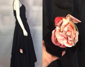 Late 1940s black ball gown