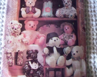 Stuffed Toys Crafts Pattern -- Dogs, Bears, Lion, Cat, Bunny -- Easter Gift Ideas