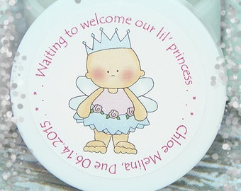 Baby Shower Favors, Personalized Whipped Body Butter, Baby Girl, Princess Shower, Princess Party, Baby Shower Unique Shower Favors