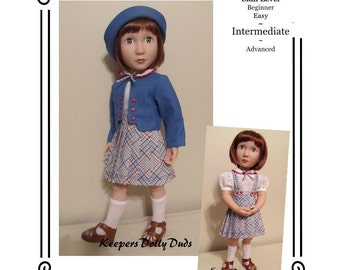 "PDF Pattern KDD22-16 ""Train Station""- An Original KeepersDollyDuds Design,16"" Doll Clothes Fits A Girl For All Time Dolls"