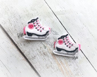 Ice Skate Hair clip Figure Skate hair clippie Sport Clip  Pick one or two. Pick Left side or Right.