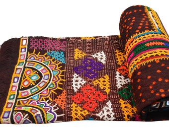 Genuine Vintage Kutch Rabari Banjara Shawl Woolen Odhni EM66