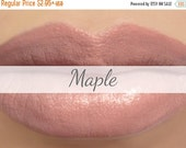 "On Sale - Lipstick Sample - ""Maple"" (light peachy brown nude lipstick) natural lip tint, balm, lip colour vegan mineral lipstick"
