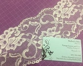 1 yard of 4 inch Off White Galloon lace trim for bridal, veils, altered couture, costume by MarlenesAttic - Item 4WW
