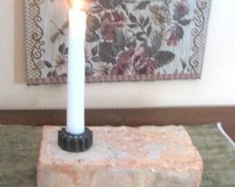 Brick candle holder