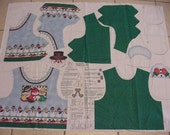 Snowlight Snowman Children's Vest Panel, Holiday, Winter, Sewing, Small, Medium or Large