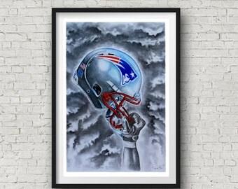 Patriots Wall Art patriots helmet | etsy