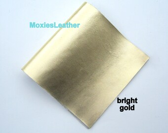 Gold leather for jewelery leather printed -leather for  crafts, , leather supplies - jewellery journal covers