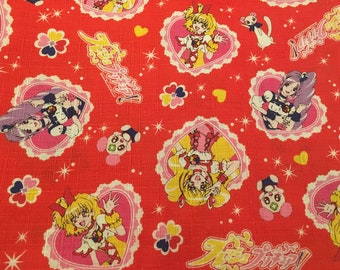 SALE! Fabric Anime Manga Girl Japanese Fabric Kawaii FAT QUARTER