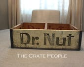Dr. Nut Soda Pop Crates -- Dr. Nut Crate -- Vintage Soda Crate -- Soda Pop Crate -- Dr. Nut Soda Crate -- Storage Crate