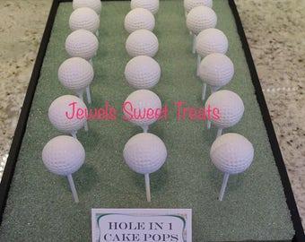 12-Golf Ball Cake Pops or cake balls
