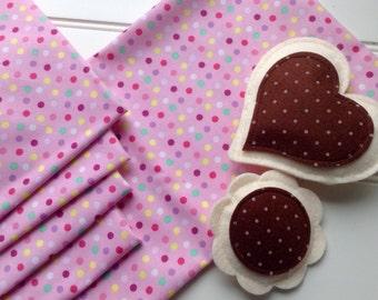 Pink Tea Party Set of 4 Napkins and Matching Tablecloth, Picnic Play, Waldorf, Christmas Gift
