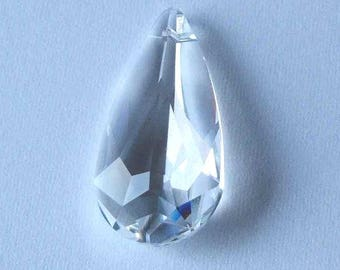 1 SWAROVSKI 6100 Teardrop Pendant Crystal 24mm CRYSTAL CLEAR