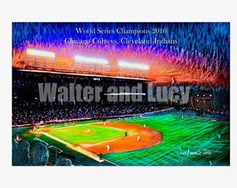 Chicago Cubs World Series Original Art Limited Addition Print