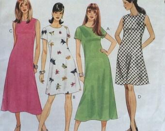 Dress Pattern / Misses Dress / Small Dress Pattern / Medium Dress Pattern / Bias Dress Pattern / 2 Hour / McCalls 8238 / UNCUT