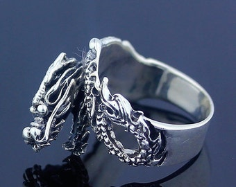 HandMade Dragon & Sterling Silver .925 (US) Ring Size 6.5 Jewelry