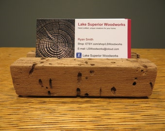 Business Card Holder, Crafted out of Buggy Butternut Wood