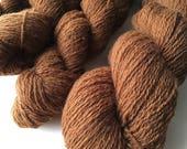 Reclaimed Fingering Yarn - Wool - Chocolate Brown