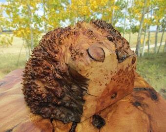 Natural Wood Alligator Juniper Burl Pet Urn / Keepsake Memorial