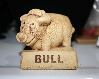 """Paula Figurine, """"Bull"""", Vintage 1970s"""