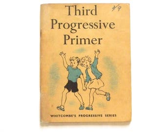 Vintage School book Vintage Third Progressive Primer