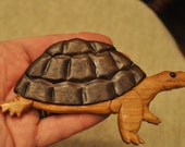 Turtle Magnet - Curly Cherry and Black Walnut