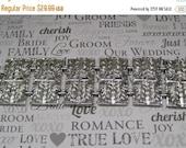 55% STORE WIDE SALE Vintage Wide Link Silver Bracelet, Ornate Leaf Pattern