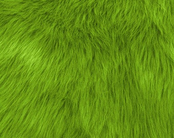 Fun Monkey Fur Lime 60 Inches Fabric by the Yard, 1 yard