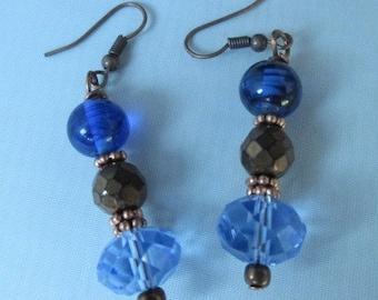 Blue Crystal (Earrings)