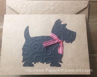 Scottie Cards, Dog Cards, Terrier Dog Card, Cards for Dog Lovers, Scottie Dog Cards, Vet Note Cards ,Veterinarian Blank Dog Note Cards