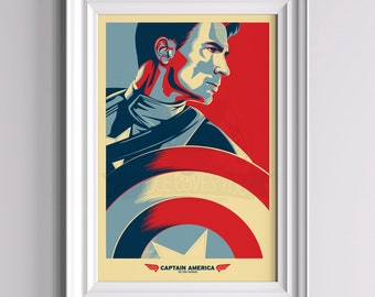 The First Avenger - Captain America inspired Poster
