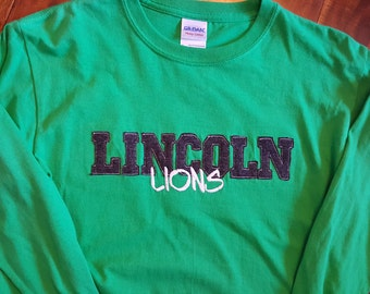Lincoln Lions Spirit Shirt - LINCOLN Varisty Letters