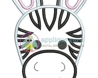 Zebra Applique Machine Embroidery Design