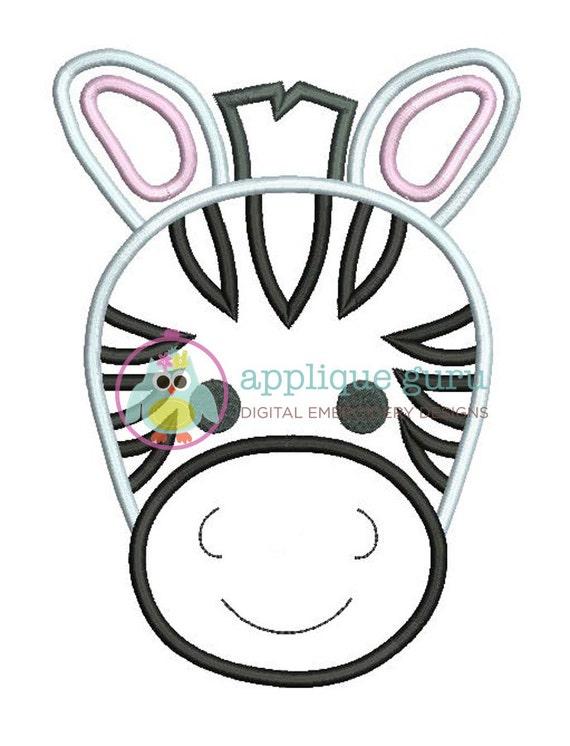 Zebra applique machine embroidery design from appliqueguru