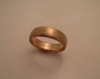 CUSTOM Mokume Gane wedding band